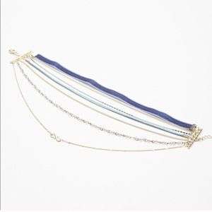 {free people} blue velvet Eternity choker